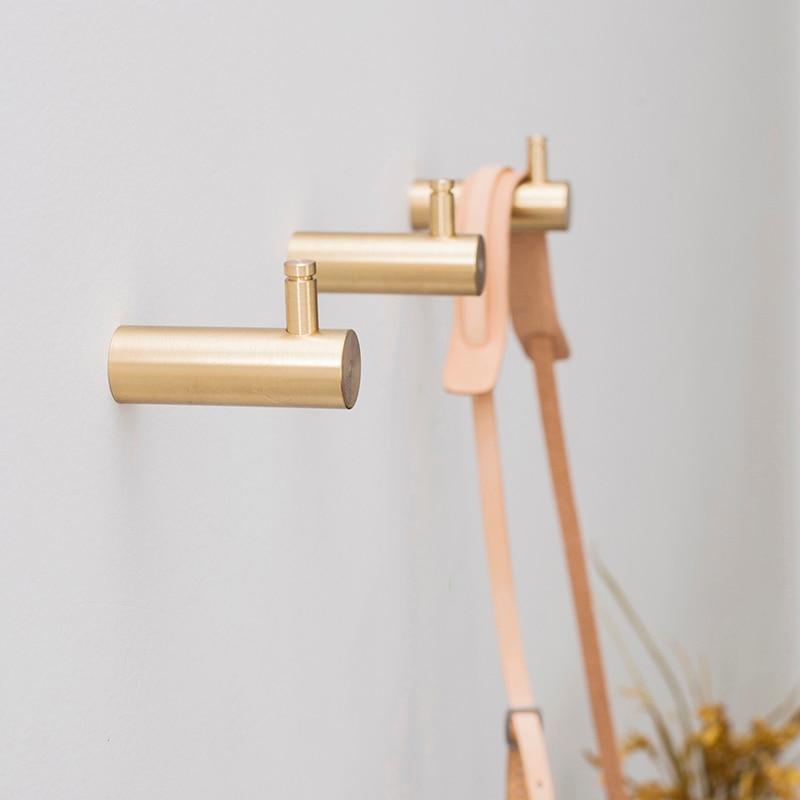 Brass Hooks Wall Door Clothes Coat Hat Hanger Kitchen Bathroom Rustproof Towel Hooks