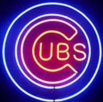 C UBS  Beer Bar Glass Neon Light Sign