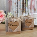 10pcs Wedding Favors Kraft Paper Gift Candy Boxes Heart Box Bag with Burlap Kid Gifts Wedding Birthday Party Decoration For home