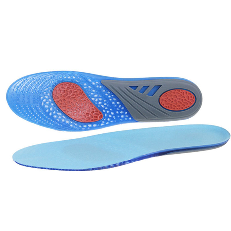 New Silicone Gel Shock Absorption Active Insoles Relieve Foot Pain Stable Heel Memory Insole Anti-friction Feet Care Shoe Pad Volume Large Bath & Shower