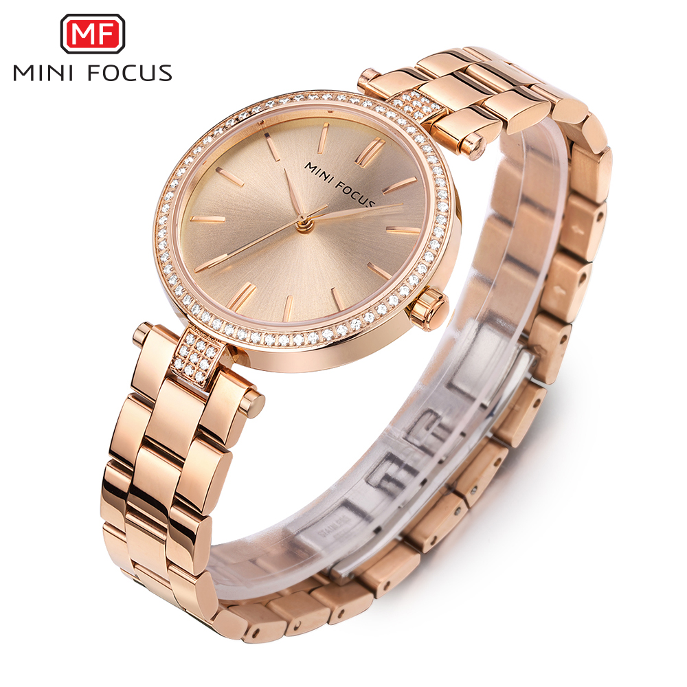 MINI FOCUS Fashion Quartz Watch Women Watches Ladies Girls Famous Brand Wrist Watch Female Clock Montre Femme Relogio MF0039L sanda gold diamond quartz watch women ladies famous brand luxury golden wrist watch female clock montre femme relogio feminino