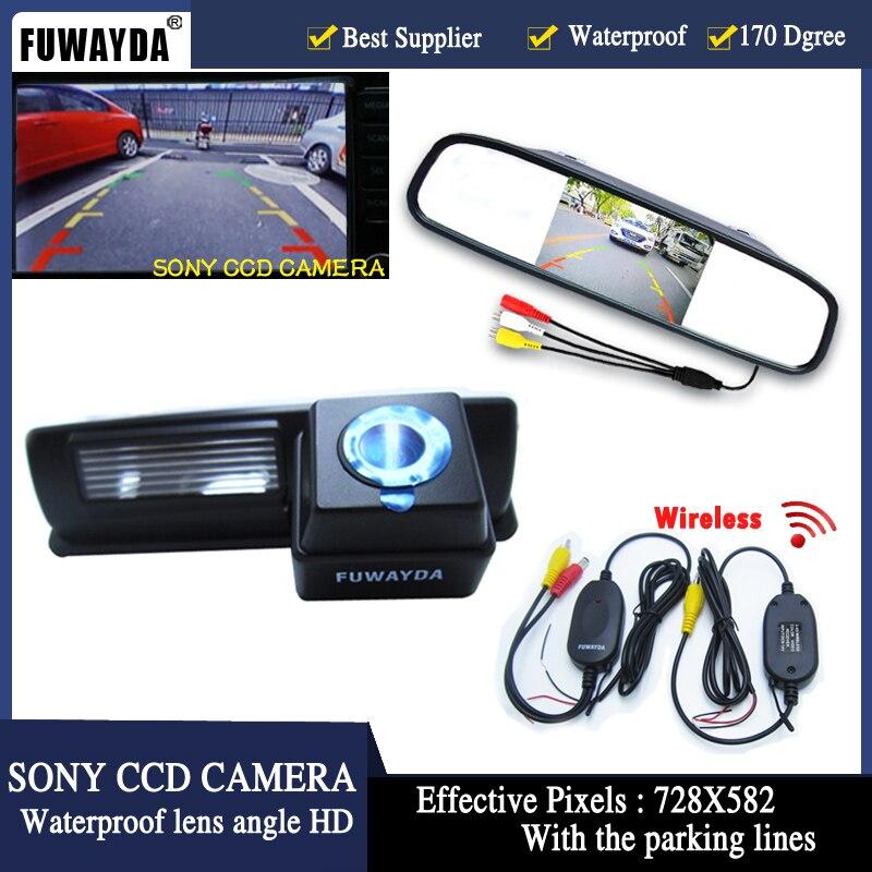 Авто Парковочные системы Системы 2 в 1 4.3 цифровой TFT ЖК дисплей зеркало Автостоянка Мониторы + 170 градусов вид сзади автомобиля камера для Toyota