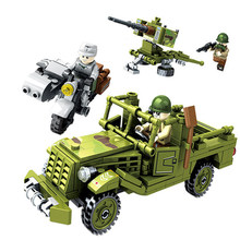 YETAA Justice Action Military Series Building Blocks Model Building Blocks Minecraft DIY Legoe Technic Blocks Toys For Children(China)
