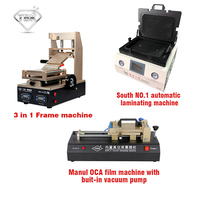 ТБК Инструменты для ремонта ЖК оборудования 3 в 1 Клей Удалить машина + tbk 808 ОСА Вакуумный Ламинатор машина + пленка OCA ламинатор