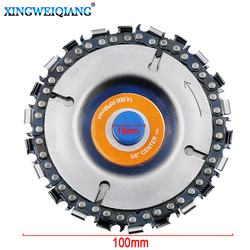 4 Inch Grinder Disc and Chain 22 Tooth Fine Cut Chain Set For 100mm Angle Grinder