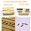 Negro Blanco Para Sony Xperia Z L36H L36 C6603 C6602 USB cubierta del Puerto Enchufe Del Polvo Toma de Auriculares Micro SD + Ranura Para Tarjeta SIM, envío gratis