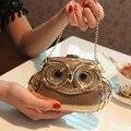 2015 новых женских мода банкетный клатч изысканный алмаз сова жесткий чехол вечерняя ну вечеринку портмоне сумки через плечо