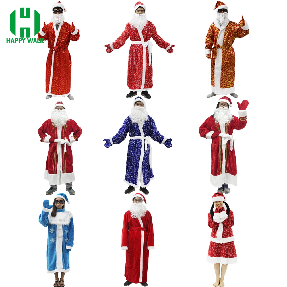 704 Santa Wig with Beard Christmas Fancy Dress Costume Party Wig