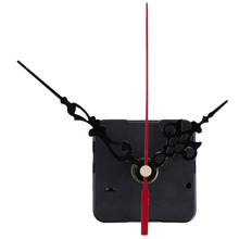 2017 New Home Use Mute Clock Movement Quartz Clock Mechanism Kit Spindle Mechanism Shaft 12mm with Hands with Retail box