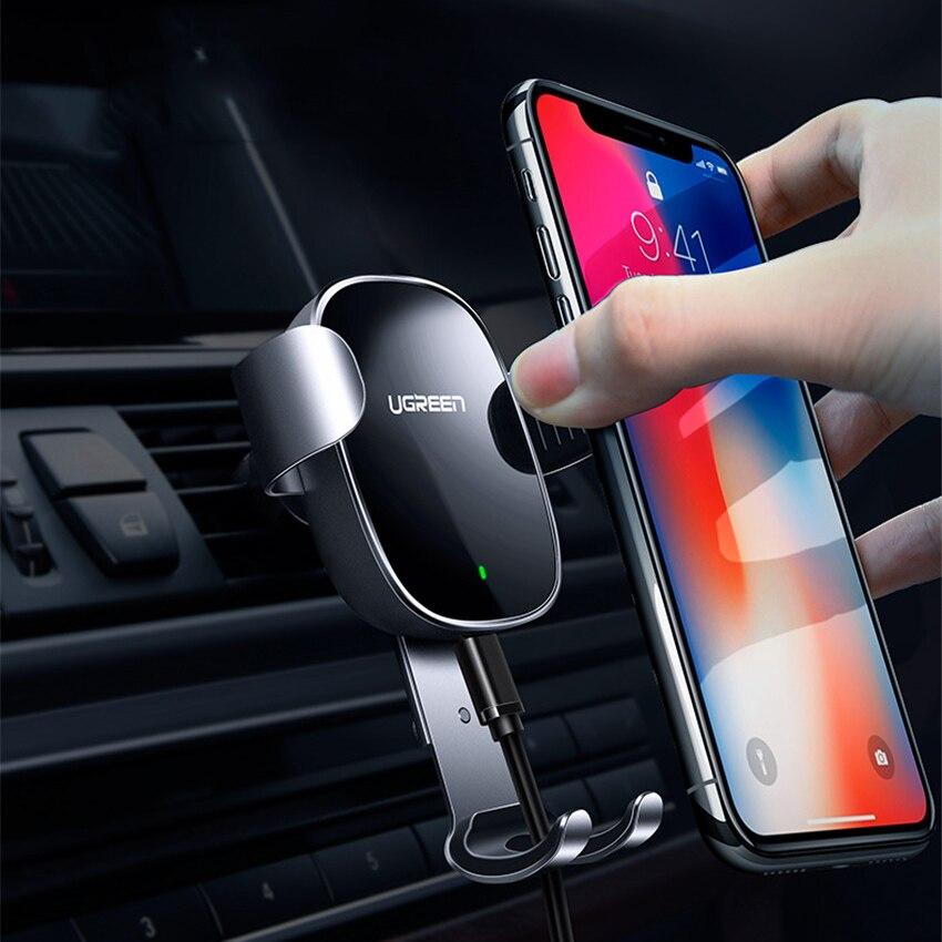 2018 Nouveau Ugreen Car Mount Qi Sans Fil Chargeur pour iPhone X 8 Plus Rapide Sans Fil De Charge Pad Support De Voiture pour samsung Galaxy s9 s8