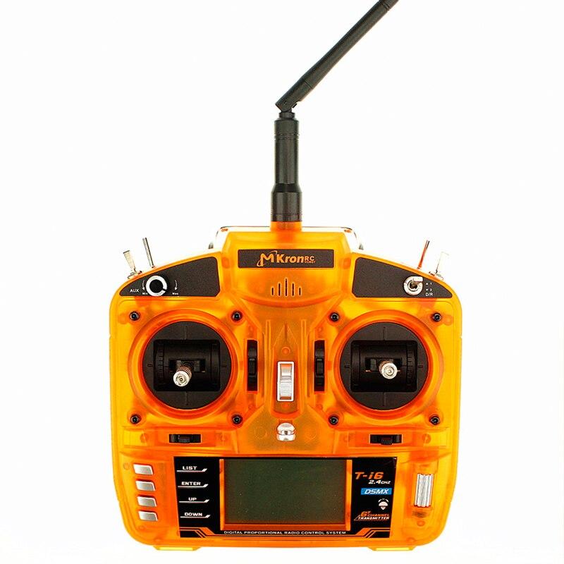DSM X Orange 2 4GHz 6 Channel Radio Transmitter W Pass Back Temperature Voltage Function W