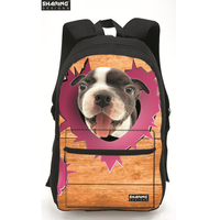Brand design cute dog children school bag for boys girls 3d zoo animal kids schoolbag backpack mochila infantil escolar bolsas