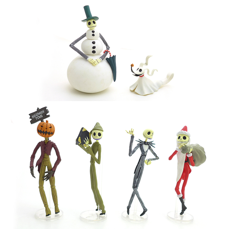 Original Garage Kit Classic Toy The Nightmare Before Christmas Jack Zero Mini Doll PVC Action Figure Collectible Model Loose Toy