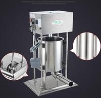 18 20L Electric Sausage Meat Stuffer With 4 Funnels Commercial Automatic Sausage Filler Aluminum Manual Salami
