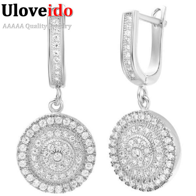 Fashion luxurious Silver Earrings For Women With Crystals Brincos de Prata 925 Bohemian Earings Joias Femininas 49% Off R234