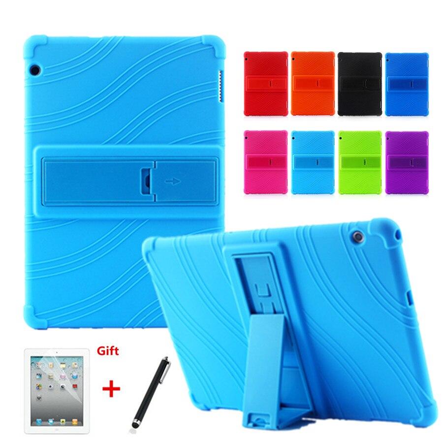 Case For Huawei Mediapad T5 10 AGS2-W09/L09/L03/W19 10 Inch Colorful Soft Silicon Cover For Huawei Mediapad T5 10 Tablet +Pen
