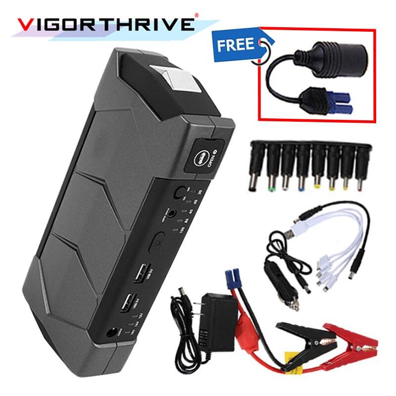 Pour voiture démarrage dispositif batterie externe 12 V Booster batterie chargeur Portable boîte à outils Mini voiture saut démarreur avec lampe de poche et marteau