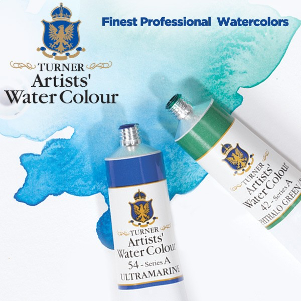 Japan Turner Transparent Watercolor Pigment Tubular Liquid Blue Series 15ml Single Color 18 Color Optional