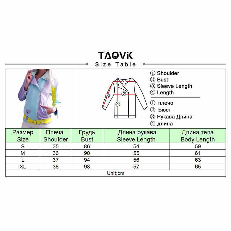Женская укороченная куртка на молнии TAOVK, цвет голубой/фиолетовый/желтый, замшевые базовые разноцветные куртки, куртка с отворотами и поясом
