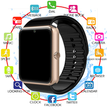 NEW Bluetooth Smart Watch Men GT08 With Touch Screen Big Battery Support TF Sim Card Camera For IOS iPhone Android Phone PK A1