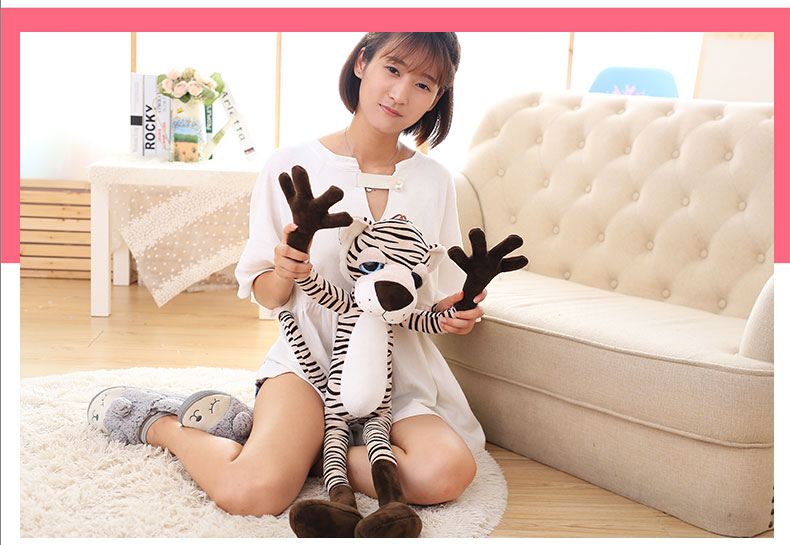 cute plush long arms tiger toy new big eyes tiger doll gift about 80cm jqt1500c 1 5kw high pressure air blower ring blower