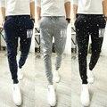 2017 НОВЫЙ сельма fit бандана брюки hip hop танцы гарем тренировочные брюки горошек jogger sarouel брюки мужчины паркур тренировочные брюки