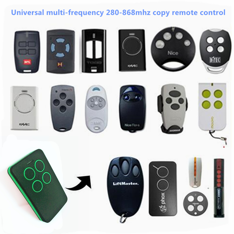 Multi frequency copy 280-868mhz auto scan frequency Universal remote control duplicator Garage door gate Remote Control Clone ...