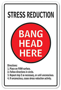 Stress Reduction Bang Head Here Vintage Metal Signs  Home Decor Plaques & Signs Home Decor Plates Retro  Size:20*30cm signs