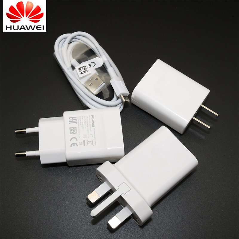 Original HUAWEI 5V 2A USB Charger adapter + 1M Micro USB Cable for HUAWEI P7 P8 P9 Lite 6 7 6S 7S Plus Honor 7/7X/6/6A/6X/5A/5C
