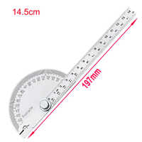 10cm/14.5cm 180 Degree Adjustable Protractor multifunction stainless steel roundhead angle ruler mathematics measuring tool