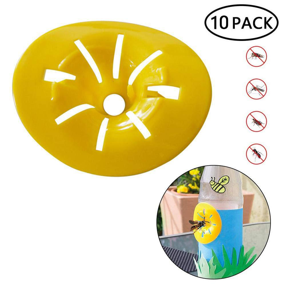 10pcs Home Garden Trap Bee Hornets Catcher Wasp Insects Funnel Killer Reusable New Plastic Bottle Wasp Traps 40P