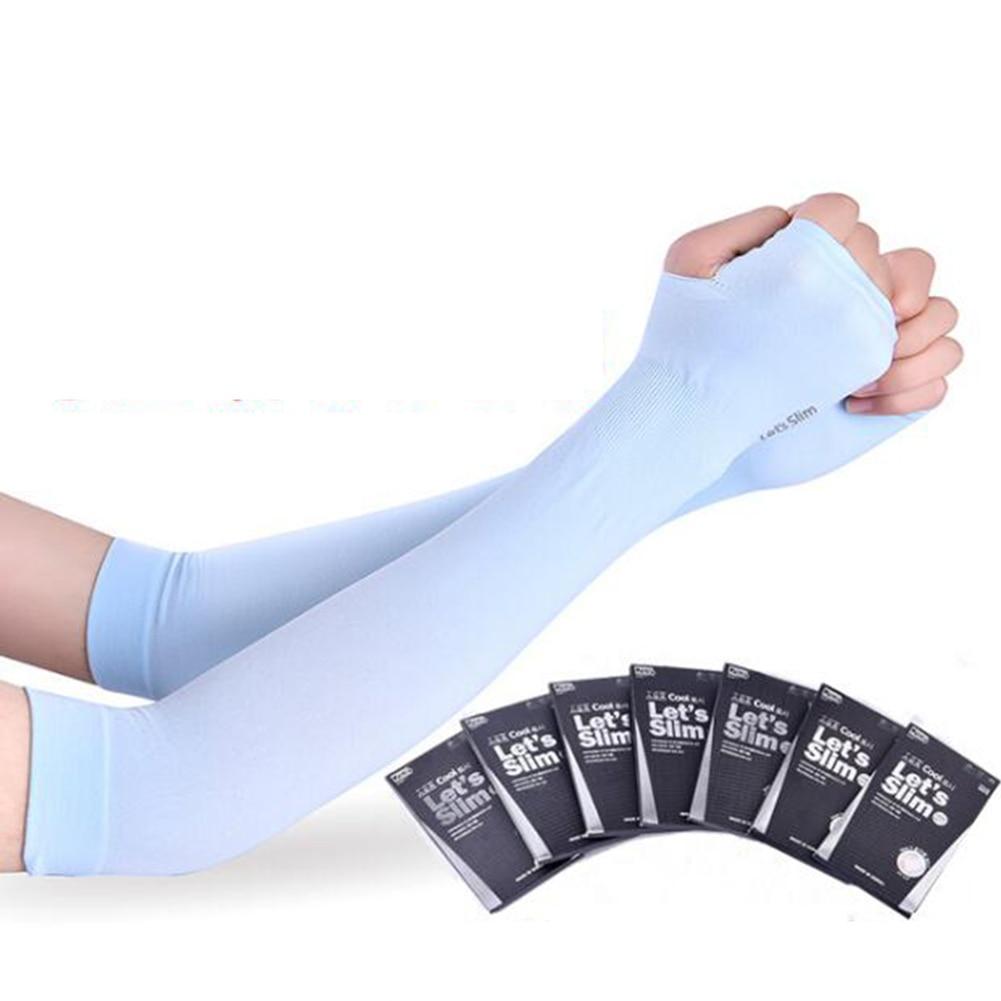 1Pair Sun Protection Arm Sleeve Cycling Golf Fingerless Arm Warmers Unisex Outdoor Sunscreen Arm Sleeves Half Finger Sleeves