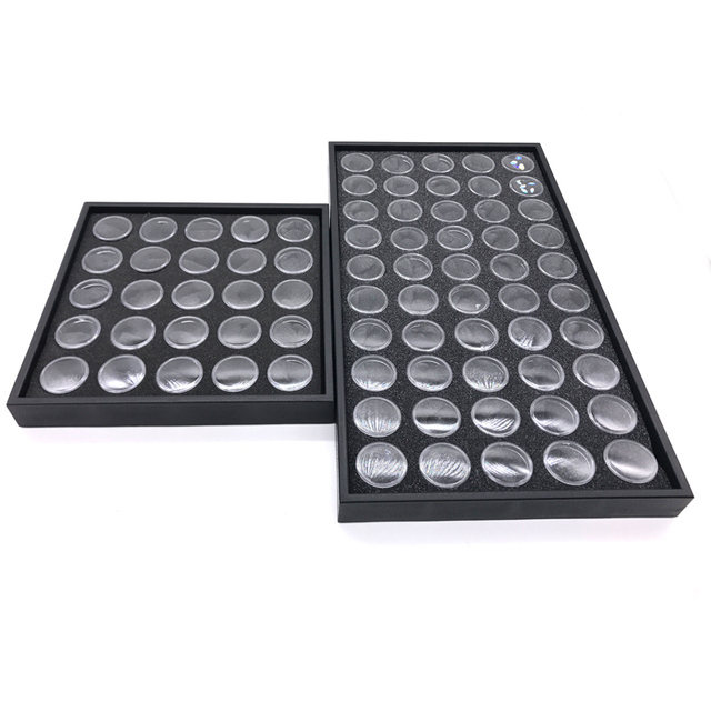 25/50 Bottle Nail Accessorios Empty Box Plastic Organizer Storage Case Manta De Strass Jewelry Piedras Para Unhas Nail Art Box