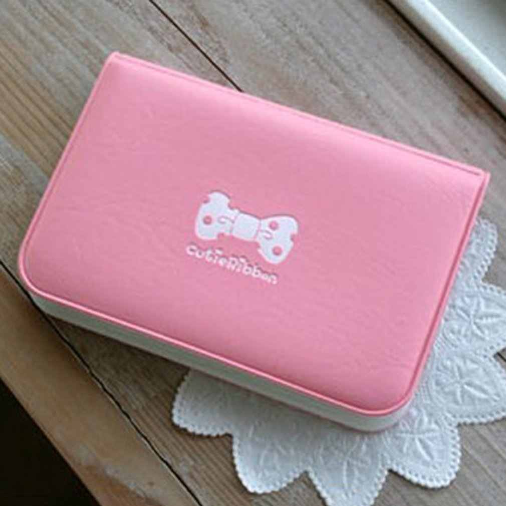 Women Colorful Mini Bow PVC Credit Card Holder Card Case Cute Cartoon Card Holder 12 Card Slots with Soft Cover for Girls