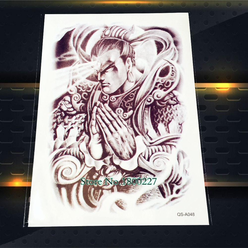 1 pc erlangshen cina terkenal orang flash tattoo sticker ukuran besar 2115 cm tahan air pasta tato seni tubuh arm lengan mitos di sementara tato dari