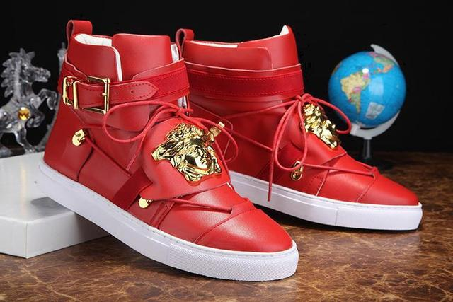 a45ce02f775 The new 2015 v - Kanye West shoes brand leather leather shoes with flat  boots men s shoes