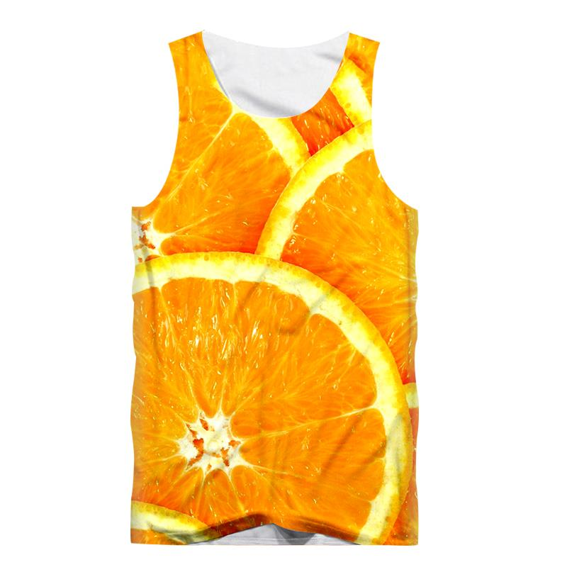 Funny Fruit Vest Pineapple Orange 3D Print Sexy Men   Tank     Top   Sleeveless Shirt Fitness Bodybuilding Undershirt Tees Tanktop