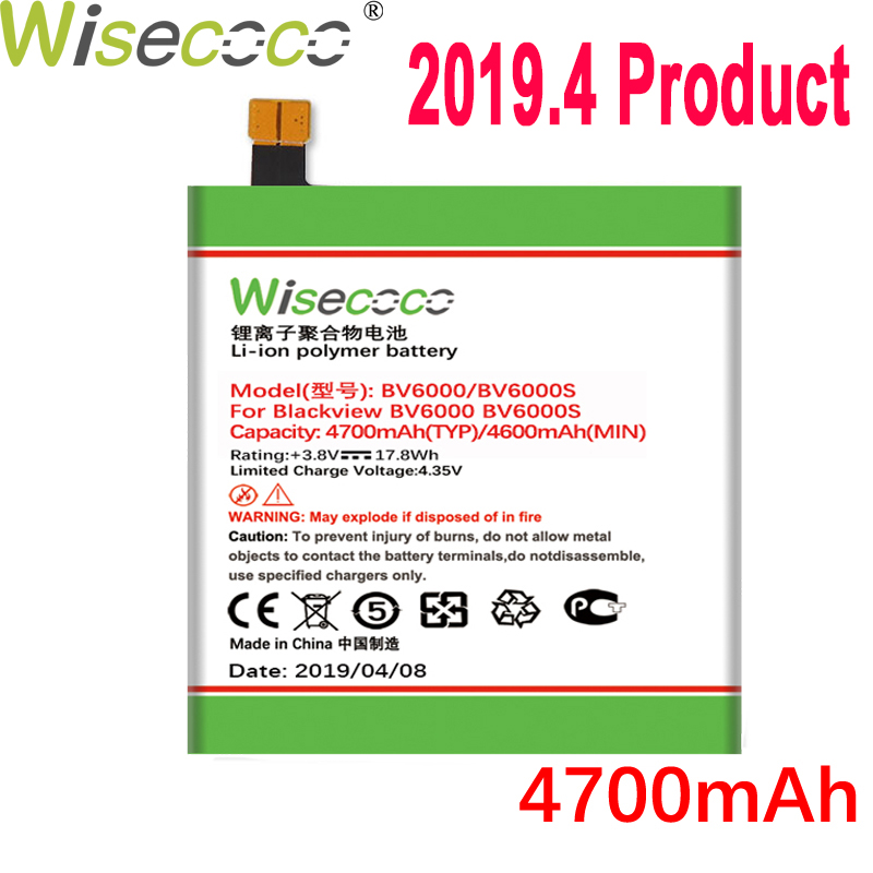 WISECOCO 4700mAh BV6000 Battery For Blackview BV6000 BV6000S Mobile Phone Latest Production Battery With Tracking NumberWISECOCO 4700mAh BV6000 Battery For Blackview BV6000 BV6000S Mobile Phone Latest Production Battery With Tracking Number
