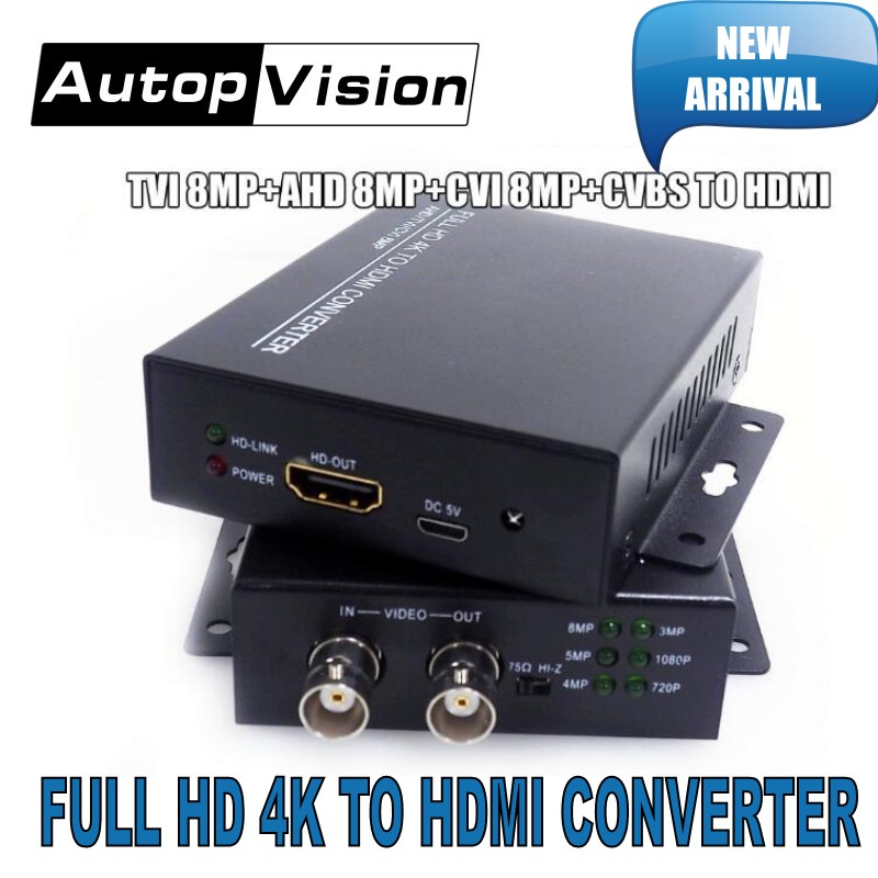 2019 New arrival 4K 720/1080P HDC-ADH 4-in-1 Resolution supports CVI 8MP /TVI 8MP /AHD 8MP+CVBS to HDMI Converter security test2019 New arrival 4K 720/1080P HDC-ADH 4-in-1 Resolution supports CVI 8MP /TVI 8MP /AHD 8MP+CVBS to HDMI Converter security test
