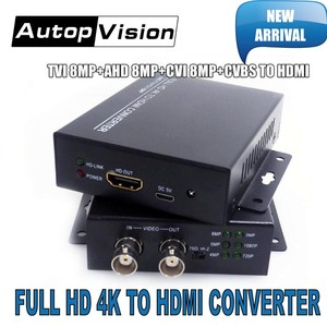 Image 1 - 2019 New arrival 4K 720/1080P HDC ADH 4 in 1 Resolution supports CVI 8MP /TVI 8MP /AHD 8MP+CVBS to HDMI Converter security test