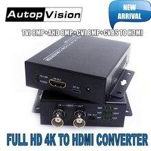 Résolution 2019 4K nouveauté/720 P 1080, supporte convertisseur 4 en 1 vers HDMI, test de sécurité CVI 8MP /TVI 8MP /AHD 8MP, CVBS vers HDMI