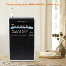 For RETEKESS PR15 Pointer Tuning FM Radio AM NOAA Emergency Warning Mini Portable Pocket Radio Receiver For Outdoor Sport Lover 5 pcs portable radio retekess v 117 3 band fm am sw radio battery powered emergency receiver radio station f9207a