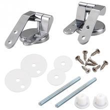 цена на Smile Monkey Bathroom zinc alloy  toilet seat hinges toilet lid hinge with screw fittings hardware Accessories