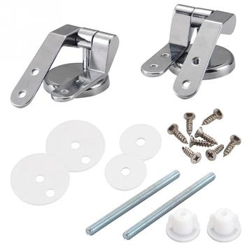 Smile Monkey Bathroom zinc alloy  toilet seat hinges toilet lid hinge with screw fittings hardware Accessories 3 pair toilet seat top screw set fixings fitting toilet repairing tools bathroom accessories