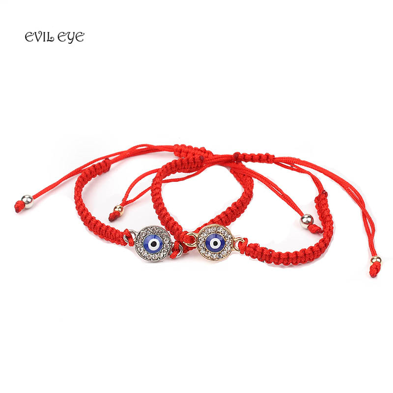 Byzylyk me Vargje të Kuqe Evil Eye, String Red of Fate, Bruckelet Good Luck, Amulet, Bracelet Thread, Bracelet Protection,