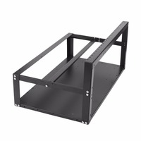 Open Air Frame Mining Rig Overlying Case Rack For 6 GPU For ETH Computer Chassis Miner