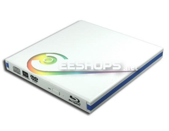 ФОТО USB 3.0 External Blu-ray Drive 6X BD-ROM Combo 4X BDXL DVD Player for HP Envy 17 17t 15 15t 15-n012tx Gaming Laptop White Case