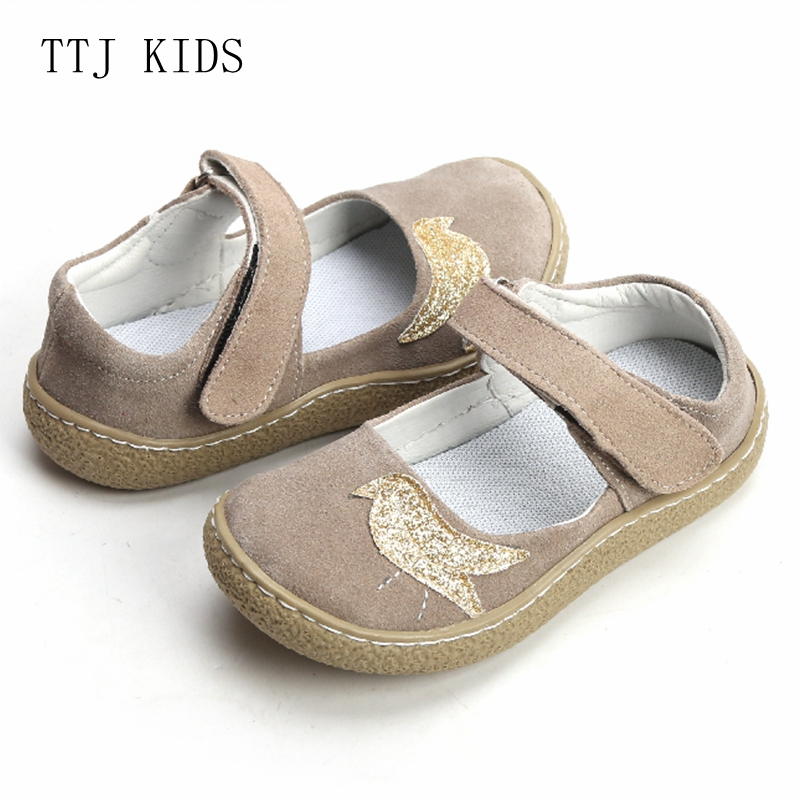 TTJ KIDS Top Brand Quality Genuine Leather Children toddler girl kids Shoes For Fashion Barefoot Sneaker Mary Jane Free Ship