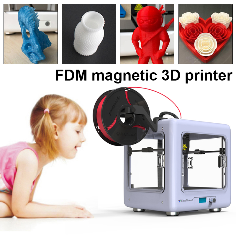 Imprimante 3D easythree entièrement ABS métal cadre fermé imprimante 3D 10-40 MM/S Portable éducatif ménage 3D bricolage imprimante
