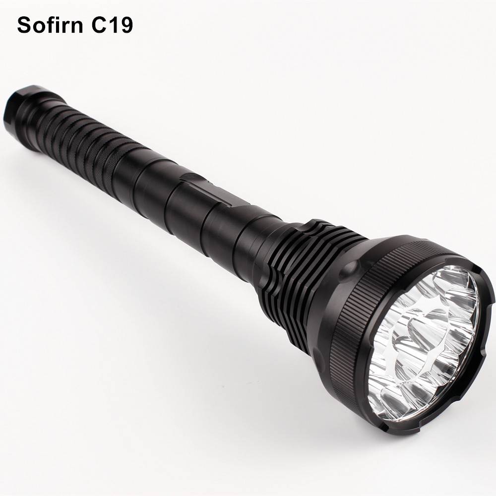 Sofirn C19 Powerful LED Flashlight 18650 Cree LED Torch Light 1500 Lumen Military Tactical Self defense Flashlight Hunting Camp 3800 lumens cree xm l t6 5 modes led tactical flashlight torch waterproof lamp torch hunting flash light lantern for camping z93